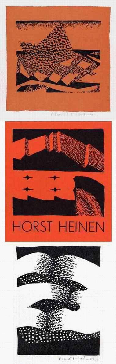 Horst Heinen - VOGELSCHWARM & AUFBRECHENDES GEWÖLK - 3 OriginalFarblinolschnitte 1978 handsigniert ( GRUPPE VIER ) kopen? Bied vanaf 32!