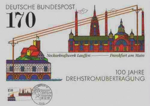 Paul Effert - Vom NECKAR-KRAFTWERK LAUFFEN nach FRANKFURT/M 1991 handsigniert mit gestempelter OriginalBriefmarke kopen? Bied vanaf 31!