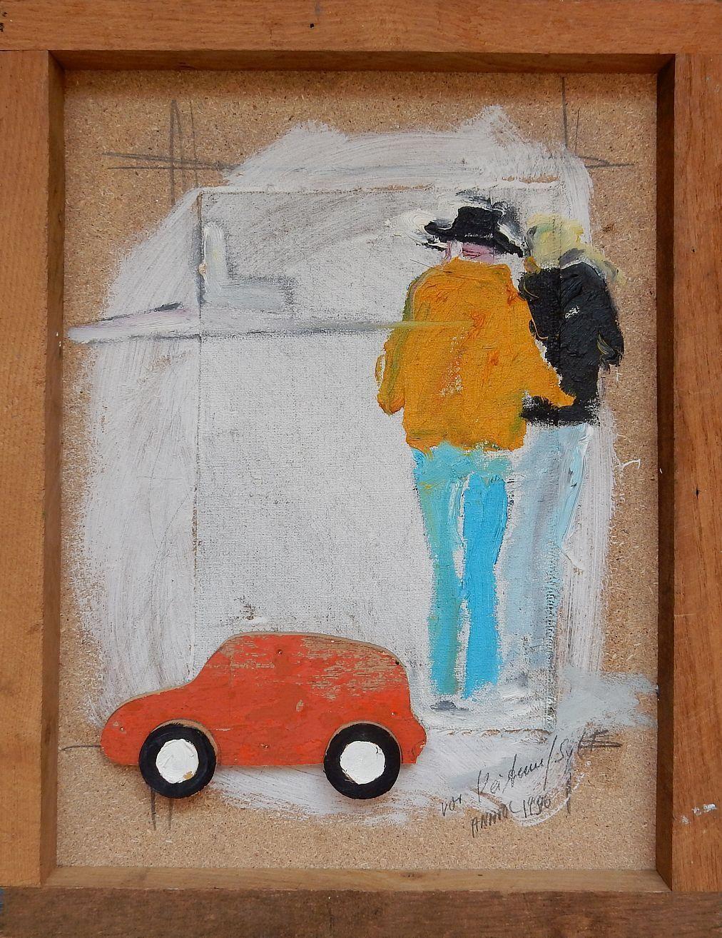 Anatol Herzfeld - Vor Keitum/Sylt, Mischtechnik und Collage, 50x38,5 cm, signiert 1986 kopen? Bied vanaf 490!