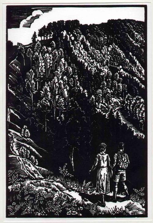 Rudolf Riege - WANDERN im WESERBERGLAND - OriginalHolzschnitt des Walter KLEMM-Schülers a.d.WESERBERGLAND-HAMELN kopen? Bied vanaf 68!