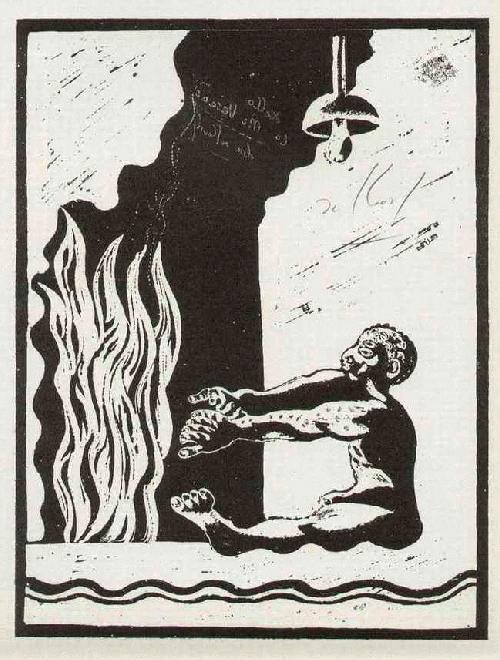 Alex Sadkowsky - WÄRME des FEUERS - Handsignierte OriginalHandätzung des ZÜRICHer weltreisenden Künstlers (SPEKTRUM) kopen? Bied vanaf 45!
