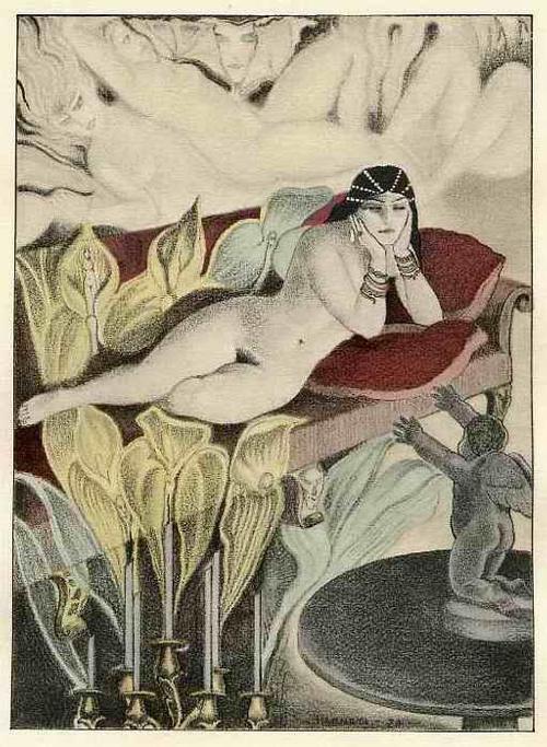 Carlo Farneti - WEIBLICHER AKT & LILIENBLÜTEN - 1934 - OriginalFarbLithographie des PARISer Künstlers aus NAPOLI kopen? Bied vanaf 36!