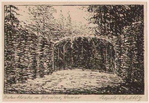 Leopold Wächtler - WEIMAR - NATURTHEATER BELLEVEDERE - Handsignierte OriginalLithographie um 1930 d.LEIPZIGer Künstlers kopen? Bied vanaf 36!