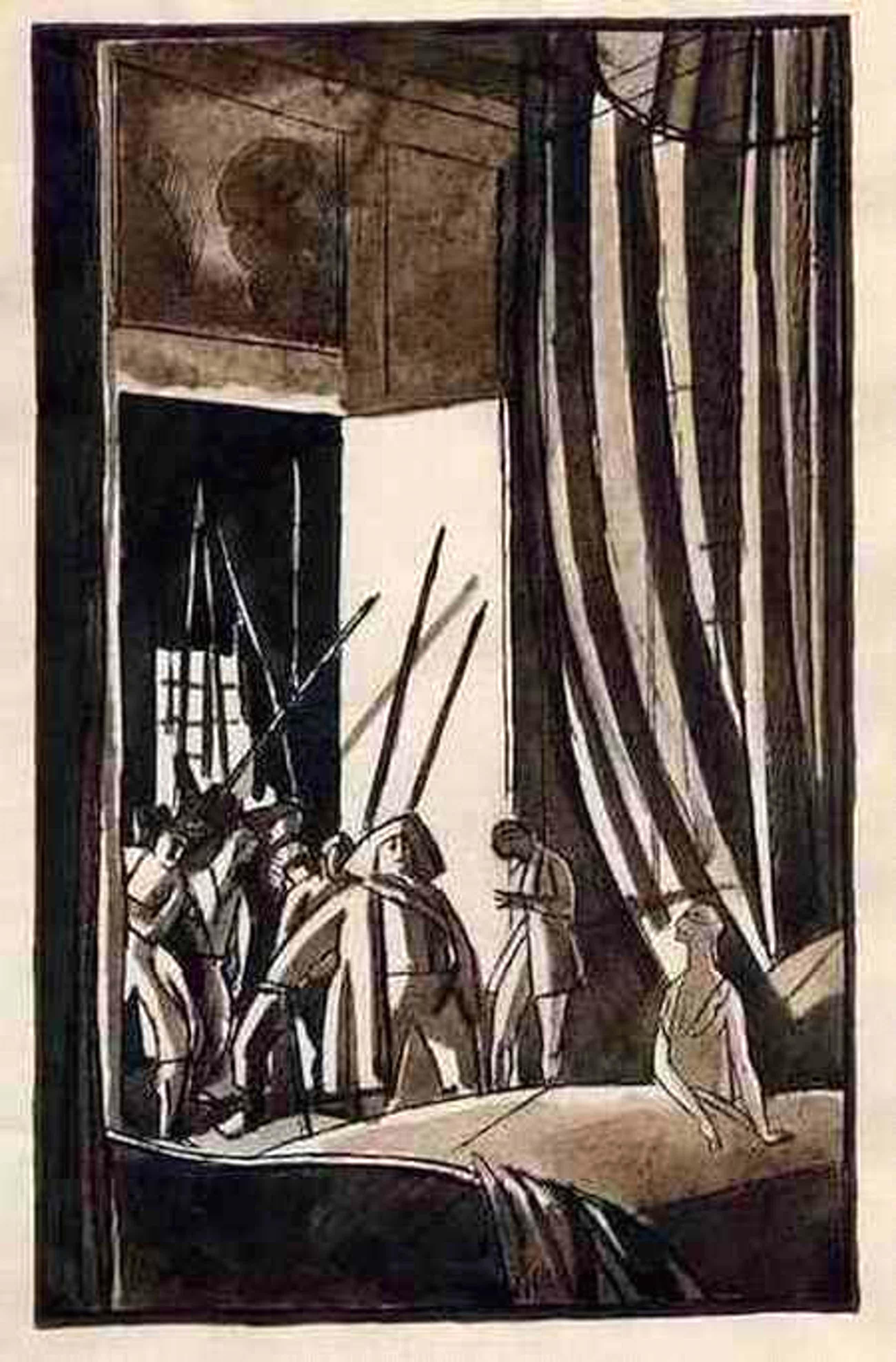 Edouard Lèon  Louis Legrand - Wenn die REVOLUTION an die TÜR KLOPFT - Original Feder-AquarellZeichnung 1921 handsigniert PLUME/AQU kopen? Bied vanaf 285!