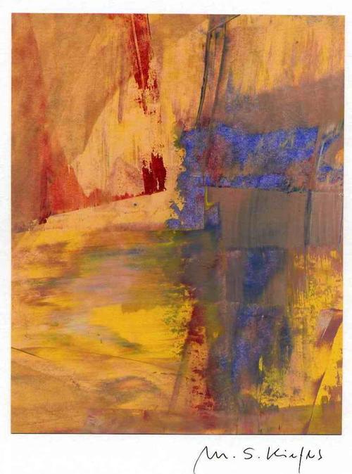Michael S. Kiefers - WER HAT ANGST vor BLAU ROT GELB - Handsignierte Acrylmalerei & Mischtechnik aus BERLIN kopen? Bied vanaf 35!