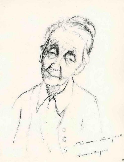 Simon Joseph Simon-Auguste - WER IST DIE ALTE DAME ? 60gerJahreProminenz - Handsignierte Druckgraphik auf ARCHES-Bütten 1962 kopen? Bied vanaf 35!