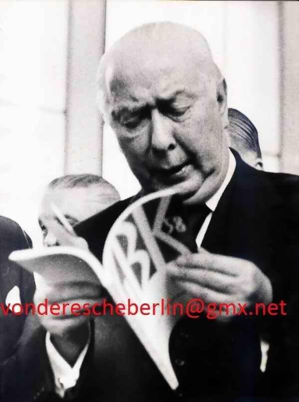 Werner Eckelt - Werner ECKELT: BUNDESPRÄSIDENT Theodor HEUSS - GROßE BERLINER KUNSTAUSSTELLUNG 1958 GBK - VINTAGE kopen? Bied vanaf 140!