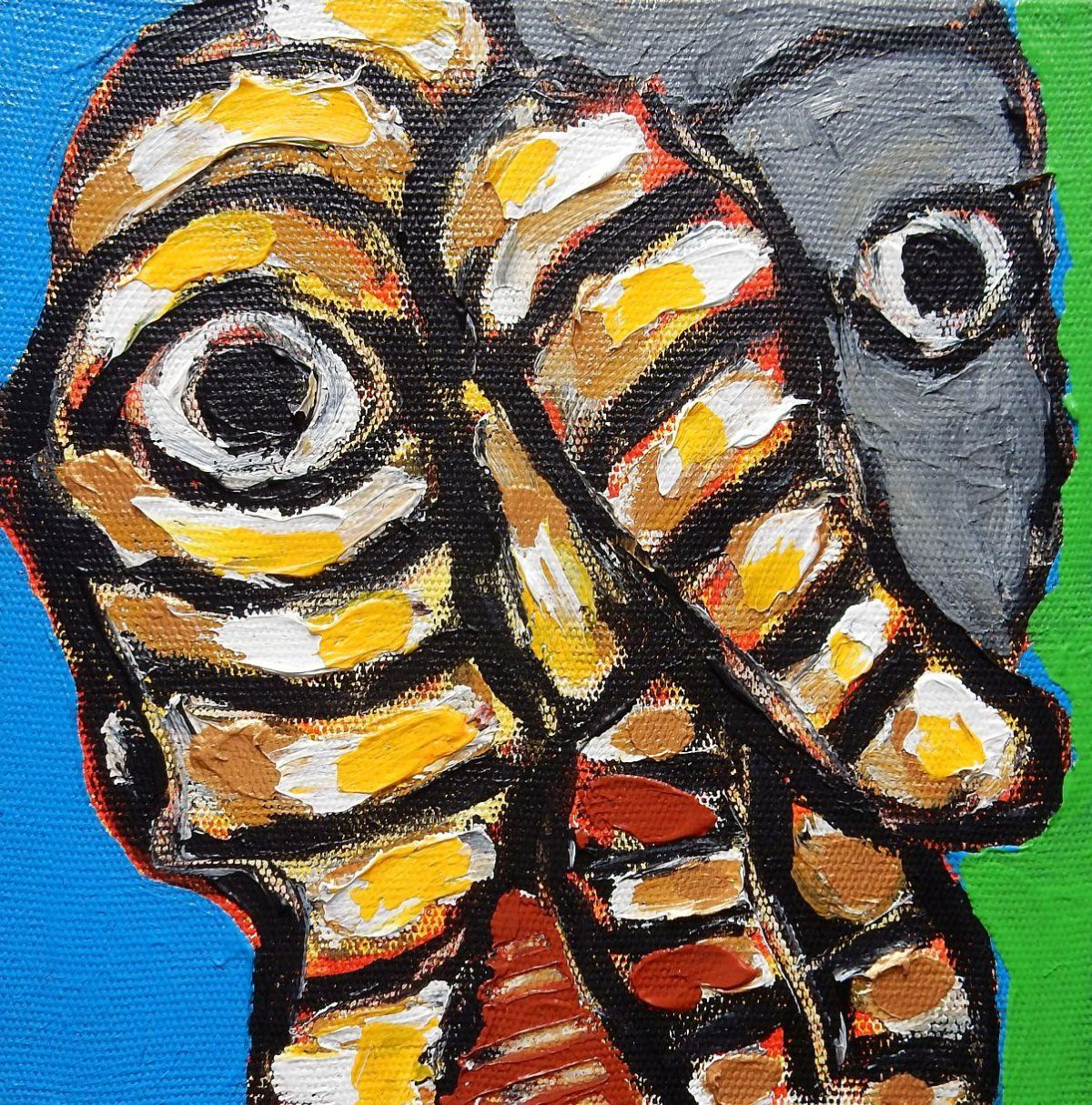 Jorge Castilla-Bambaren - Wesen, Acrylbild, 20x20 cm, Unikat, verso signiert 2005 kopen? Bied vanaf 290!