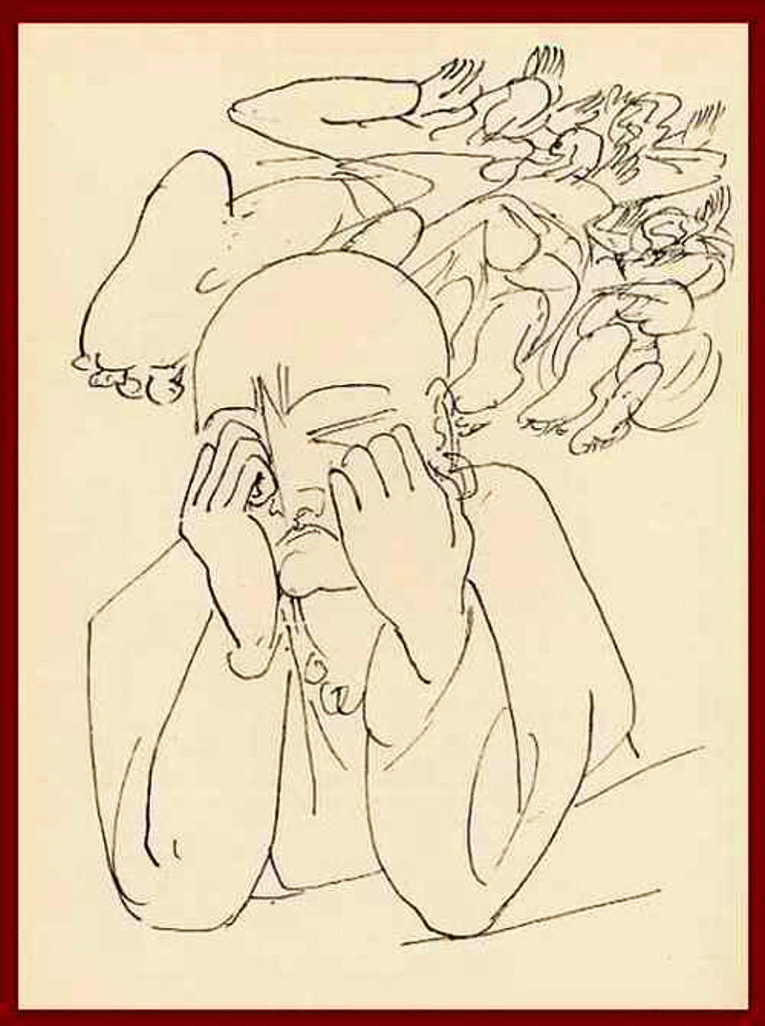 Max Beckmann - WIE WIRD MIR ! HIOBSARTIG - OriginalHolzstich 1957 mit Prägestempel 33 kopen? Bied vanaf 54!