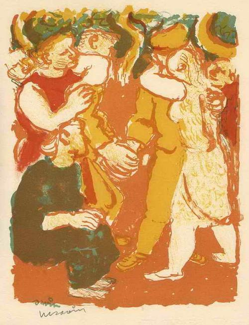 Maurice Savin - WIEDERSEHEN in HERZLICHER UMARMUNG - Handsignierte OriginalLithographie auf ARCHES-Bütten kopen? Bied vanaf 52!
