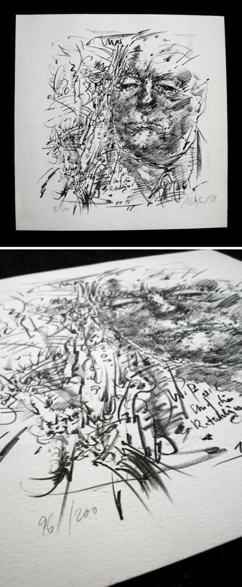 Frank Ruddigkeit - Wilhelm Pieck. Lithographie, 1988. kopen? Bied vanaf 75!