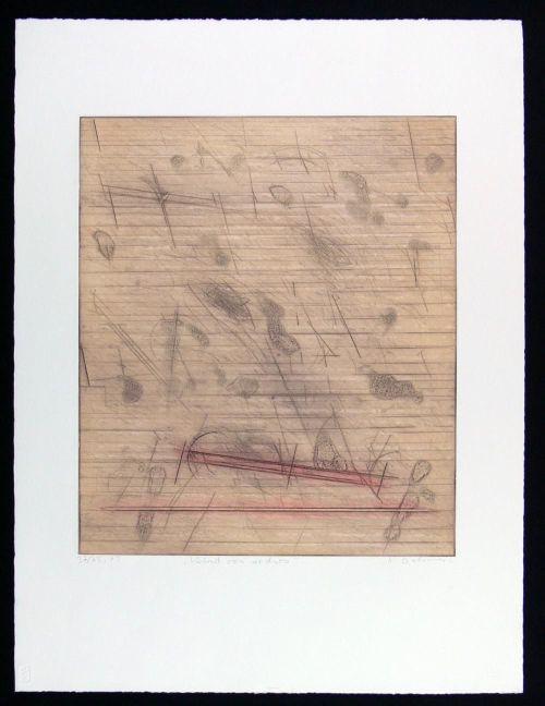 Karl Fred Dahmen - Wind von rechts, 1979. Sehr schöne Original-Farbradierung in Aquatinta. Handshigniert und numm. TOP! kopen? Bied vanaf 190!