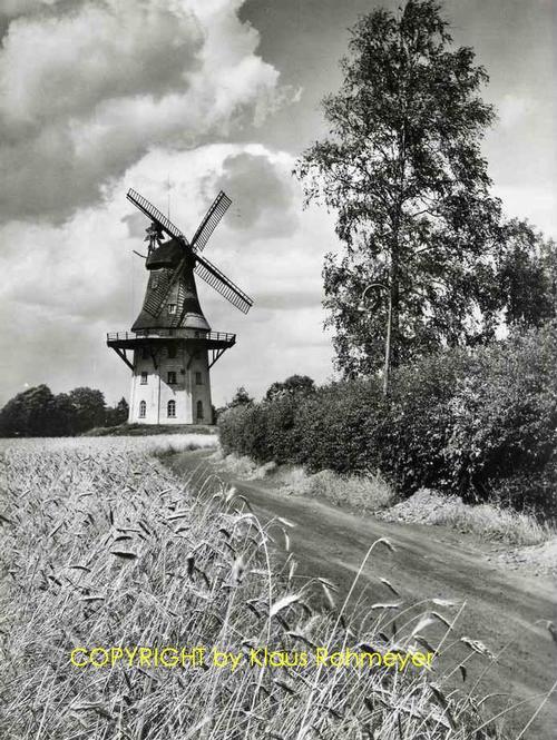 Klaus Rohmeyer - WINDMÜHLE OBERNEULAND b.BREMEN - Handsignierte OriginalFotographie d.FISCHERHUDEr MERIAN-Fotografen kopen? Bied vanaf 65!