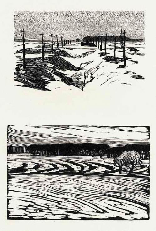 Reinhold Hoberg - WINTERLANDSCHAFTEN - 2 OriginalHolzschnitte d.LIEBERMANN-HolzSchneiders -Künstlerkolonie AHRENSHOOP- kopen? Bied vanaf 48!