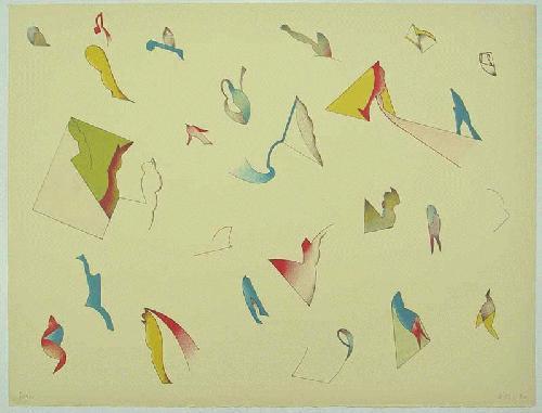 Jan Voss - - WIRKUNGSFELDER - Farblithografie auf Bütten, handsigniert, datiert, numeriert kopen? Bied vanaf 240!