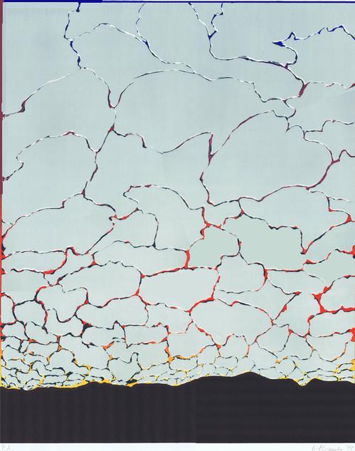 Lukas Kramer - Wolkenbild,Serigraphie,1971 kopen? Bied vanaf 35!