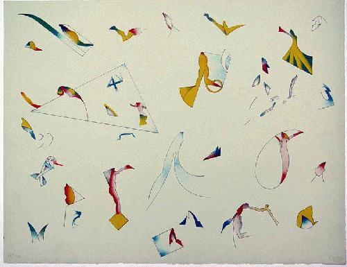 Jan Voss - - WORUM ES EIGENTLICH GEHT - Farblithografie auf Bütten, handsigniert, datiert, numeriert kopen? Bied vanaf 240!