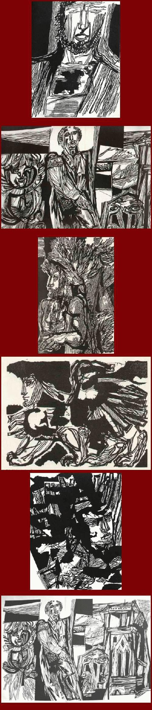 Hans Orlowski - - XYLON 6 - 1963 - 7 OriginalHolzschnitte - darunter einer 60 x 40 cm + 4 zum PSALTER 1961 kopen? Bied vanaf 59!