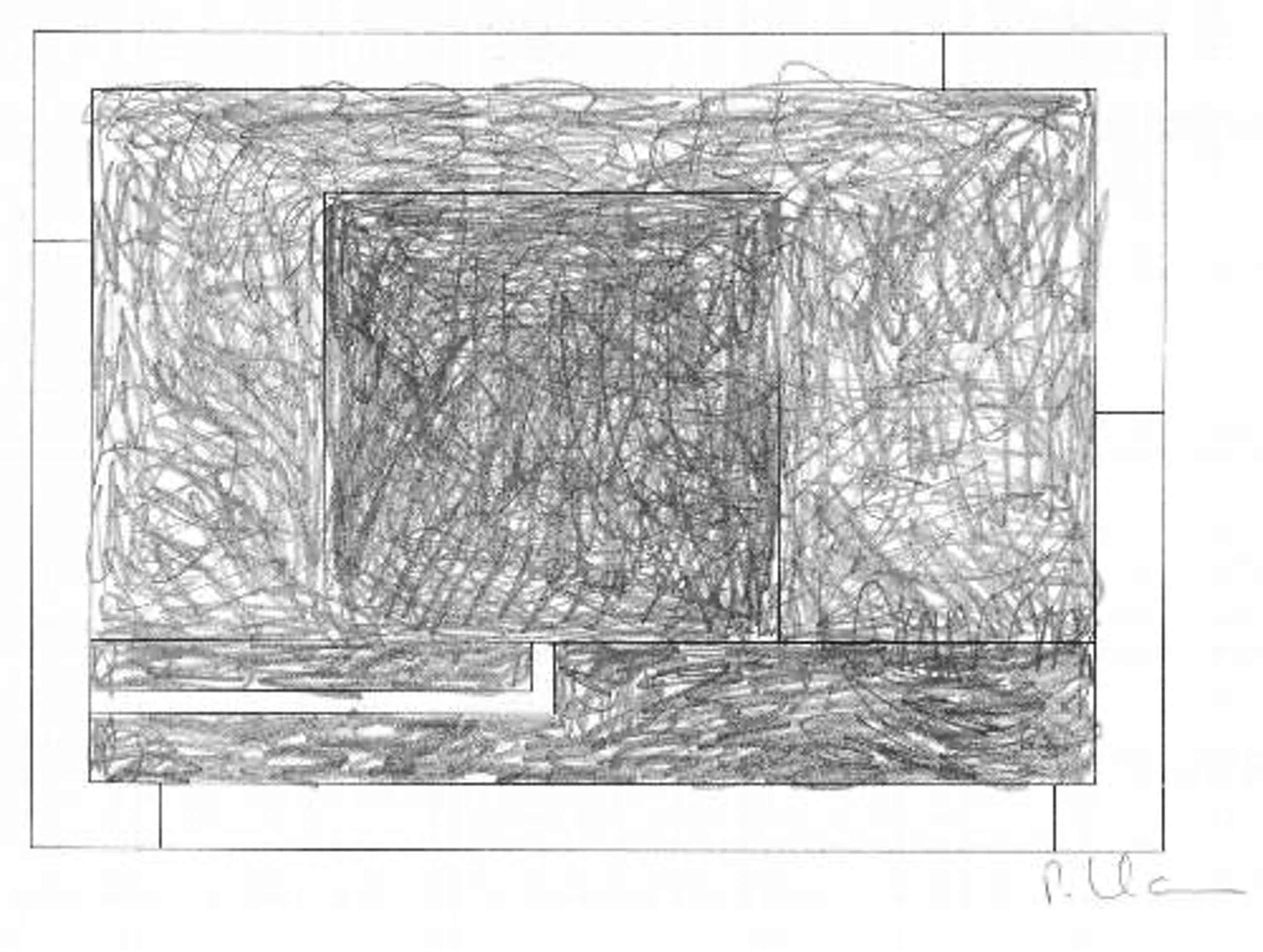 Peter Halley - Zeichnung Graphit/Bleistift Cell 8, 1995 kopen? Bied vanaf 1900!