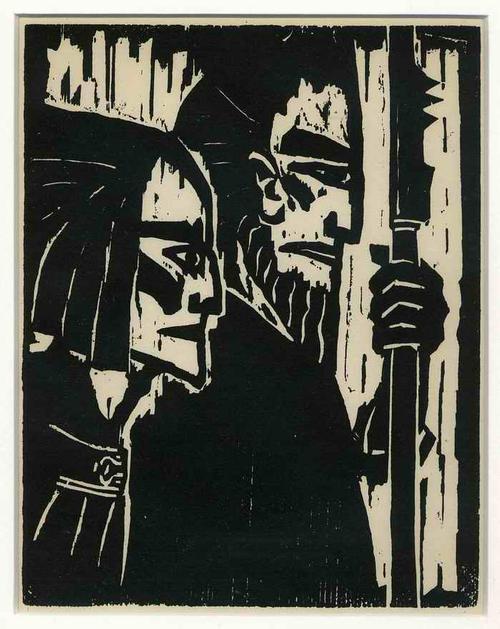 Emil Nolde - ZIEHENDE KRIEGER - 1917 - Späterer Druck im OriginalFormat des ENTARTETEN BRÜCKE EXPRESSIONISTEN kopen? Bied vanaf 95!