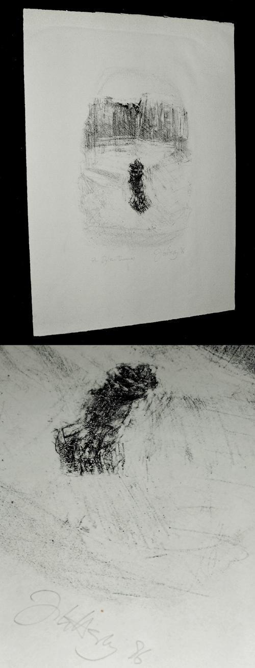 Johannes Heisig - Zu Dylan Thomas. Lithographie, 1986. kopen? Bied vanaf 90!