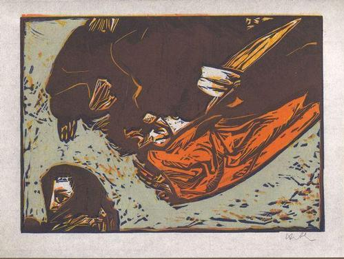 Benno Huth - zu einem Gedicht von Catull - Farblinolschnitt - 1969 kopen? Bied vanaf 60!