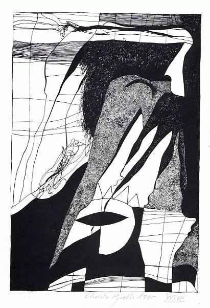 Christa Pyroth - Zu Gedicht von KRISTIANE SCHÄFFER 1 - Lithographie der Wolff BUCHHOLZ-Gattin 1970 handsigniert &num. kopen? Bied vanaf 45!
