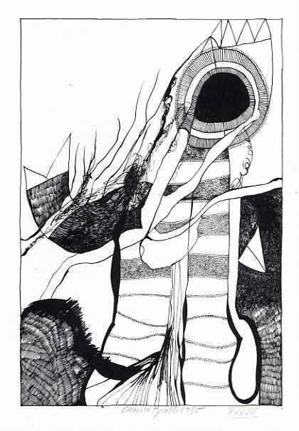 Christa Pyroth - Zu Gedicht von KRISTIANE SCHÄFFER 3 - Lithographie der Wolff BUCHHOLZ-Gattin 1970 handsigniert num. kopen? Bied vanaf 45!