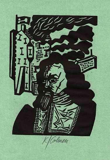 Karl Cohnen - zu GRIMMELSHAUSENs SIMPLICISSIMUS - 1995 handsignierter OriginalLinolschnitt des AACHENers 1995 kopen? Bied vanaf 28!