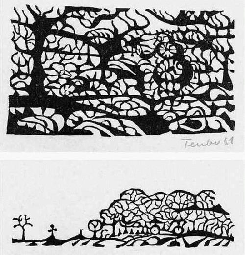 Gottfried Teuber - zu KELLERs KLEIDER machen LEUTE - 2 OriginalLinolschnitte des SEEWALD-Schülers, handsigniert 1981 kopen? Bied vanaf 20!