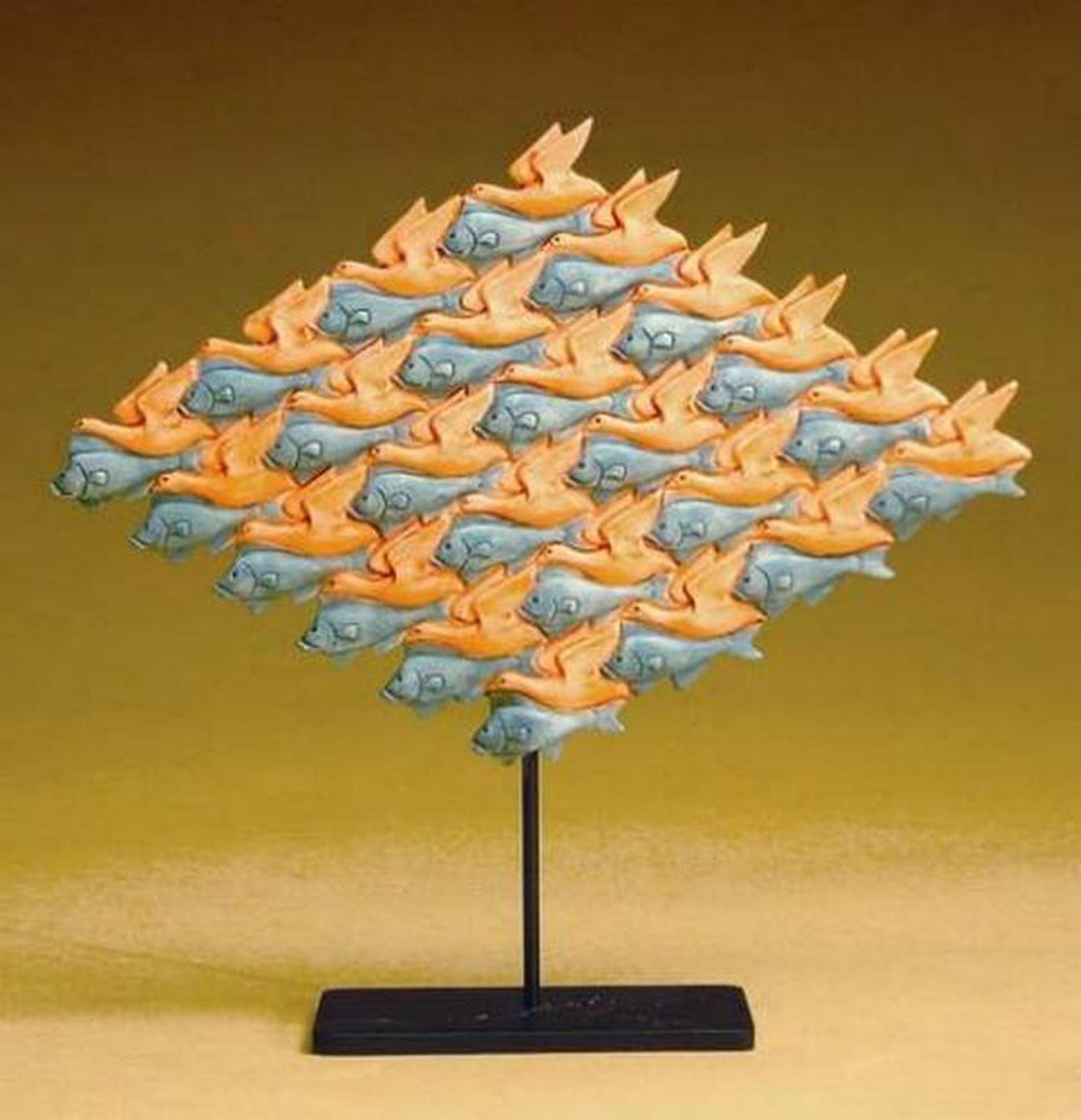 MC ESCHER, 3D-sculpture: Vogel - Vis kopen? Bied vanaf 39!