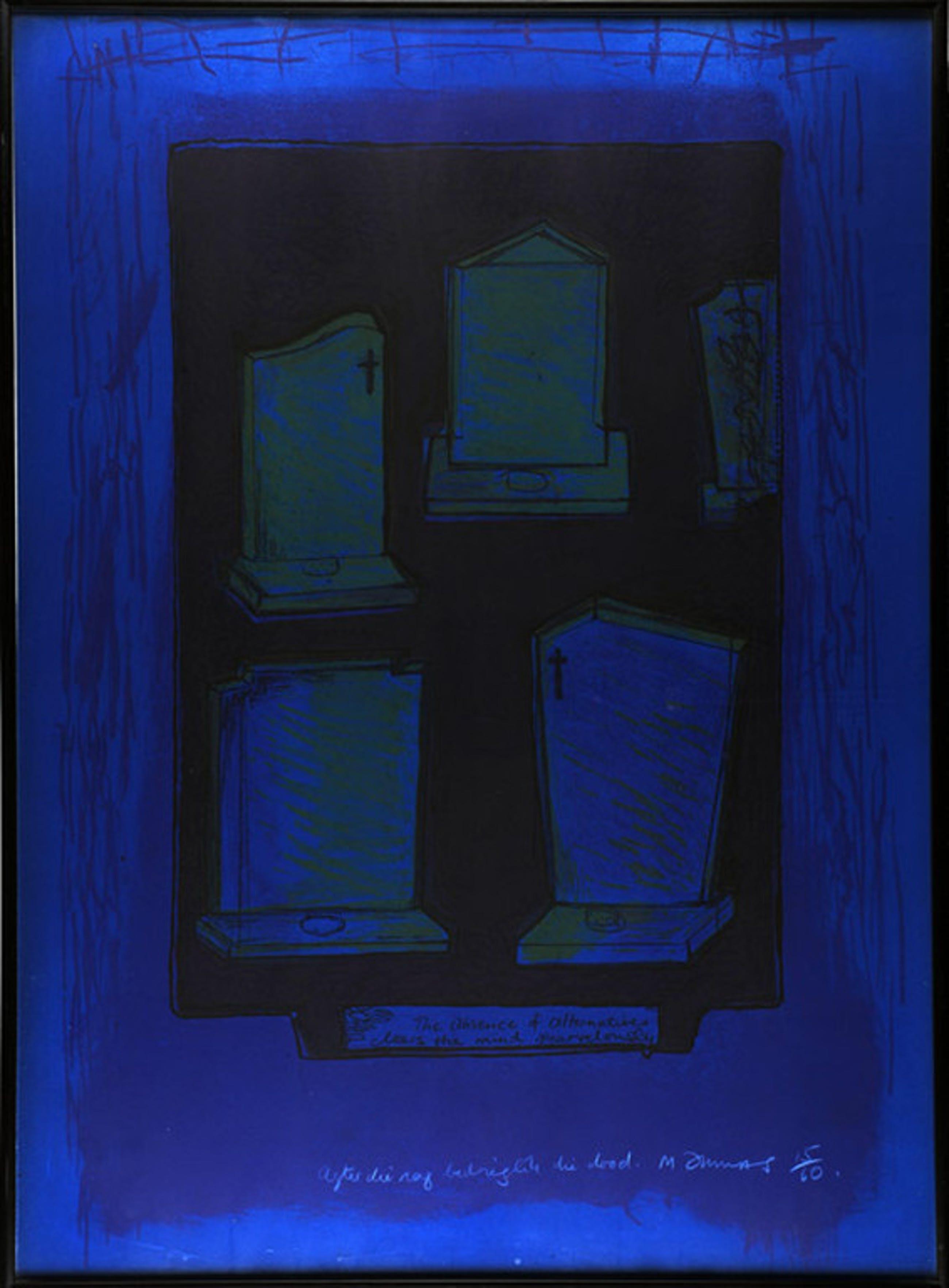"""Marlene Dumas: kleurenlitho, Still Life (""""Agter die nag bedrieglik die dood"""") kopen? Bied vanaf 595!"""