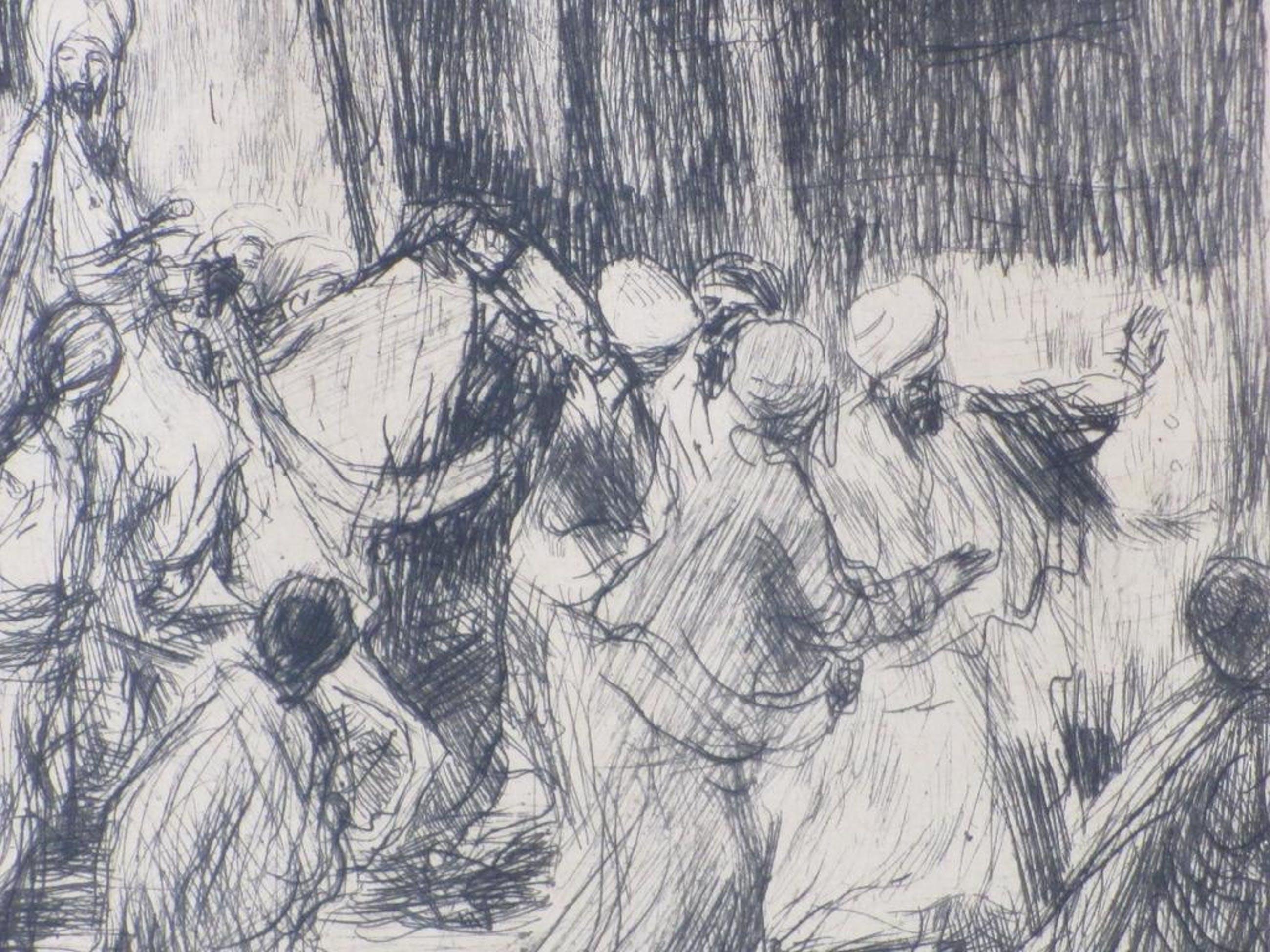 Marius Bauer, Een Vizier, Ets 1894 kopen? Bied vanaf 60!