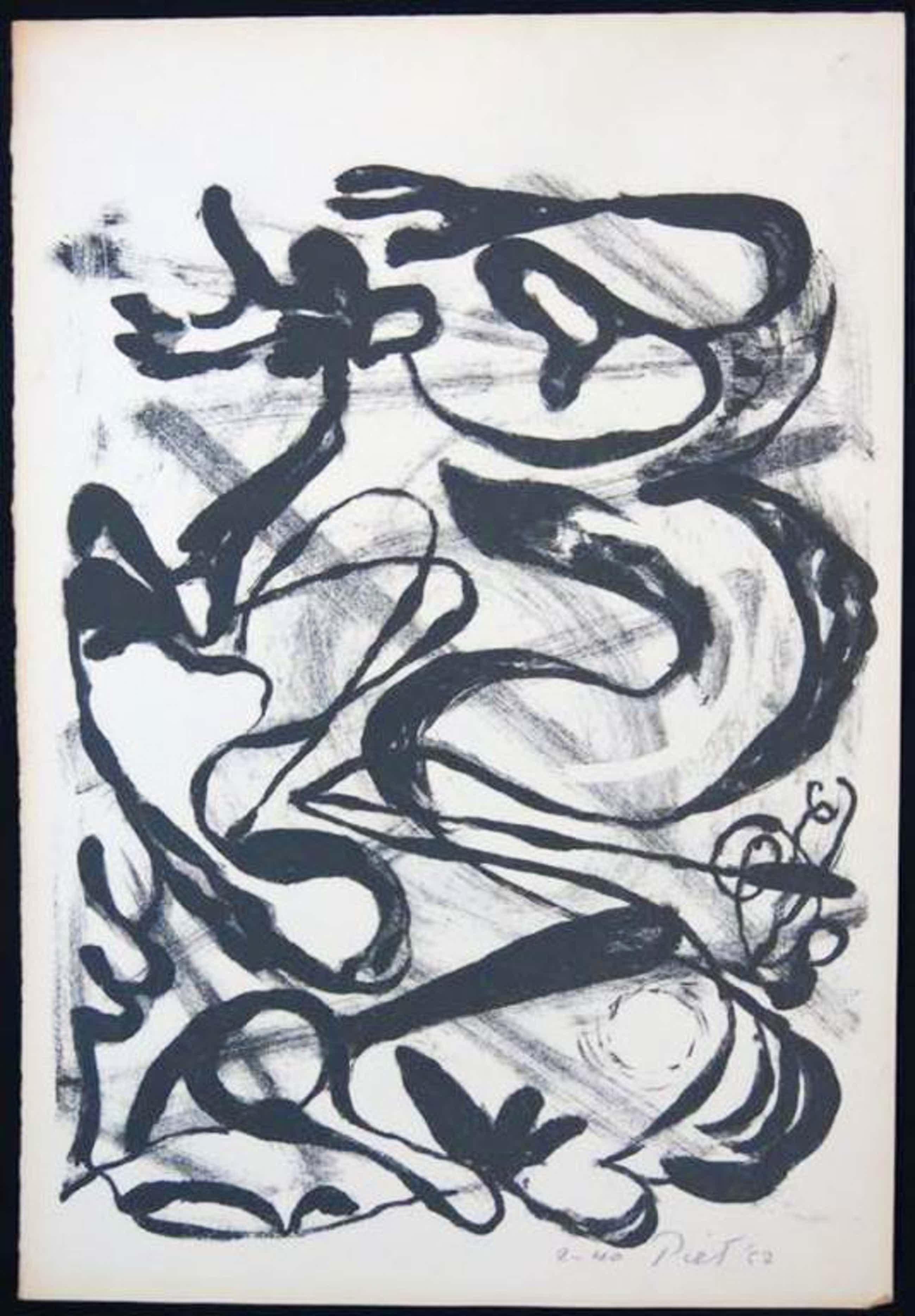 Piet van Stuivenberg: Litho, Zonder titel (creatie 1952) kopen? Bied vanaf 45!