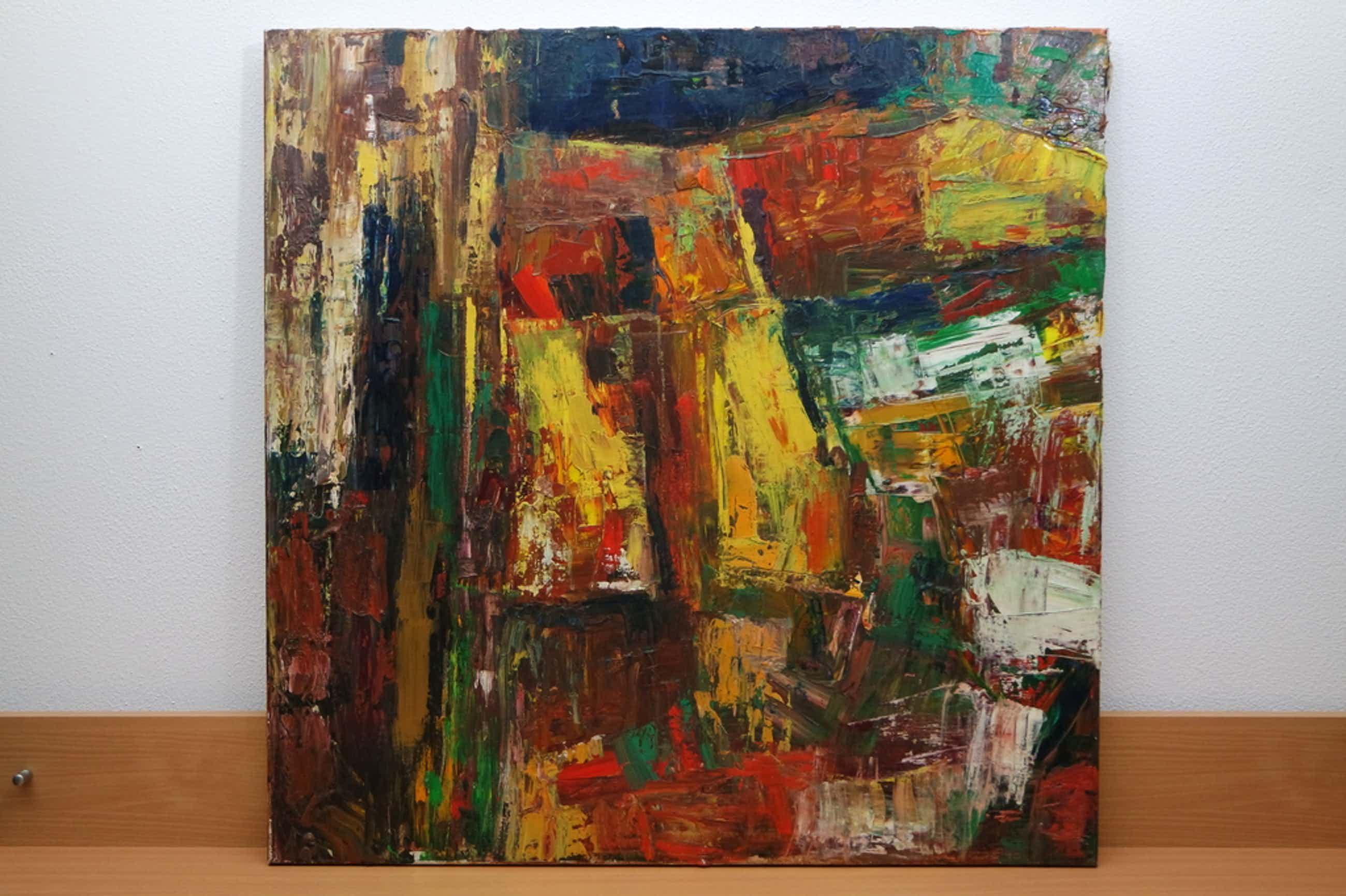 Piet MIDDELHOEK (Brielle 1930-2004) - olieverf op doek - abstracte compositie II kopen? Bied vanaf 170!