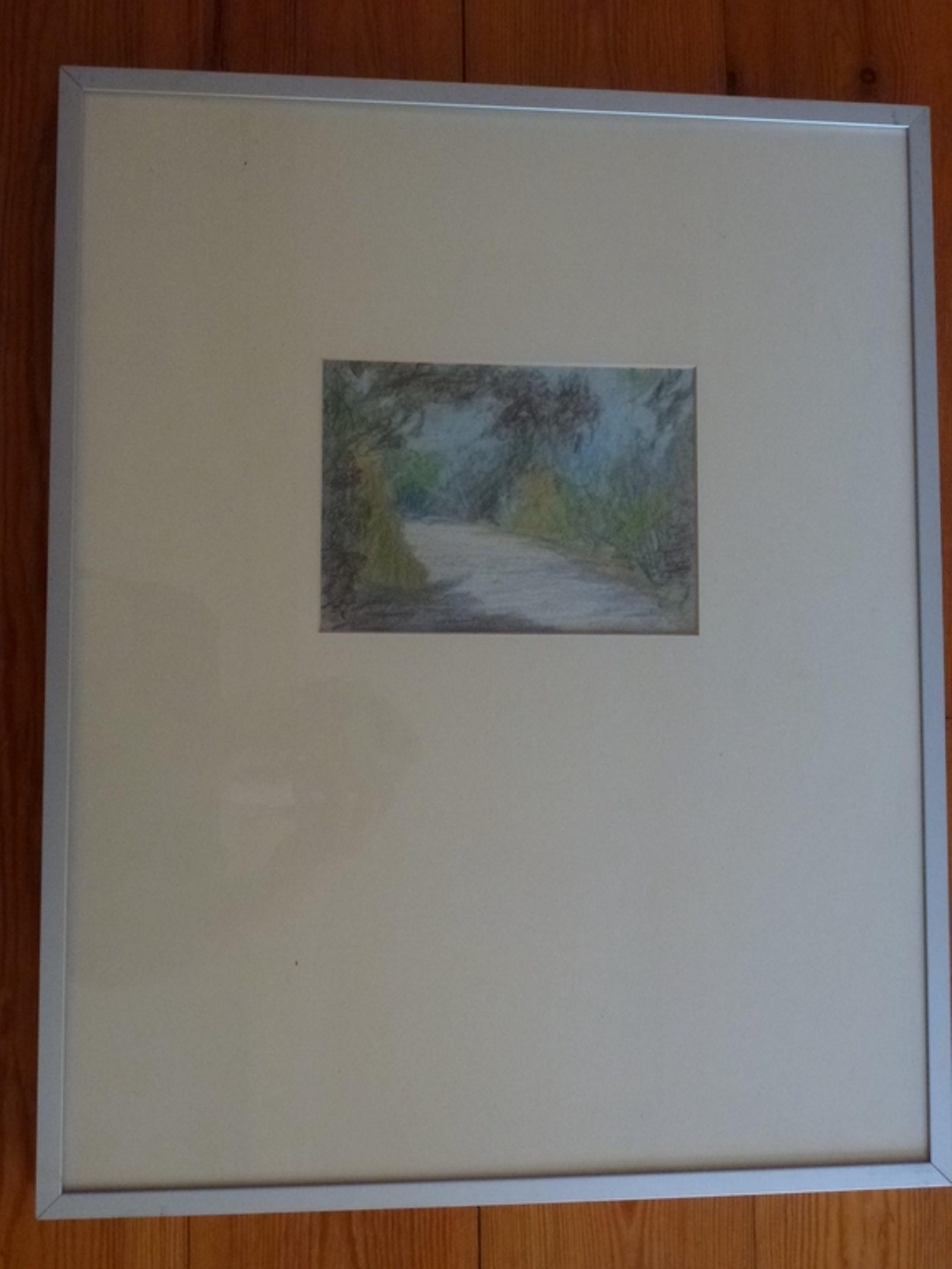 Meinert Volkers, kleurtekening, landschap bij Haarlem 1984 kopen? Bied vanaf 45!