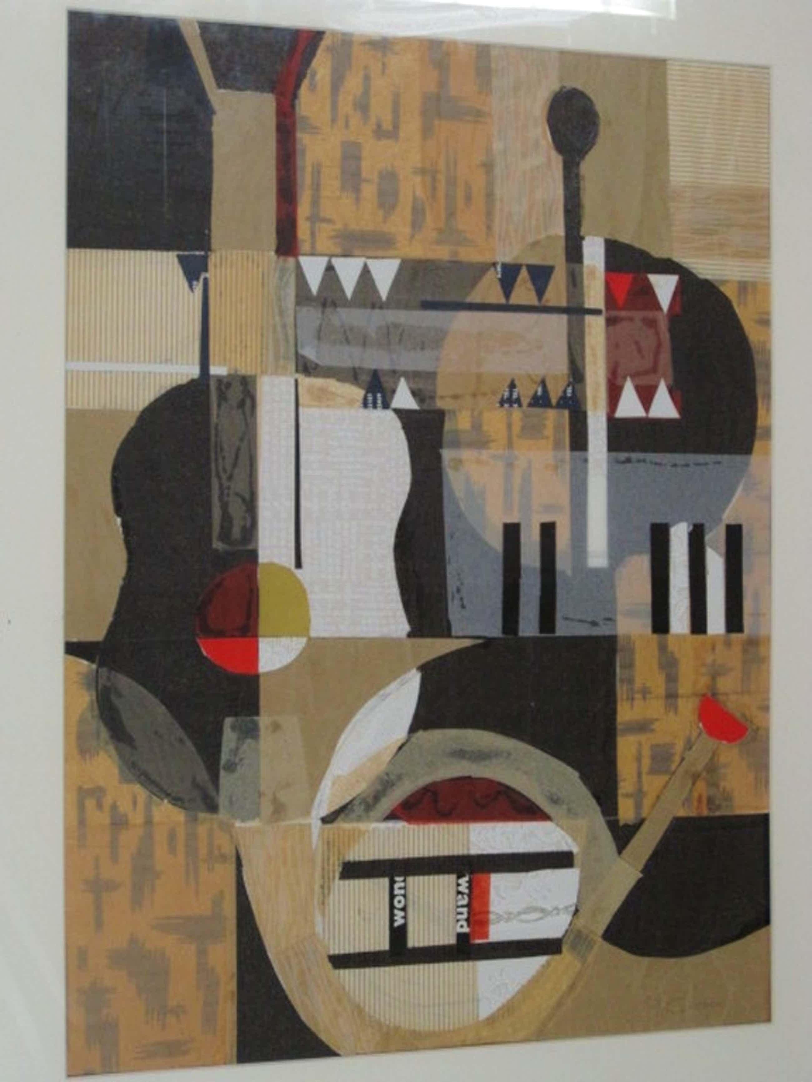 Grote originele abstract gemengde techniek Collage van Paul Citroen 1896-1983 kopen? Bied vanaf 720!