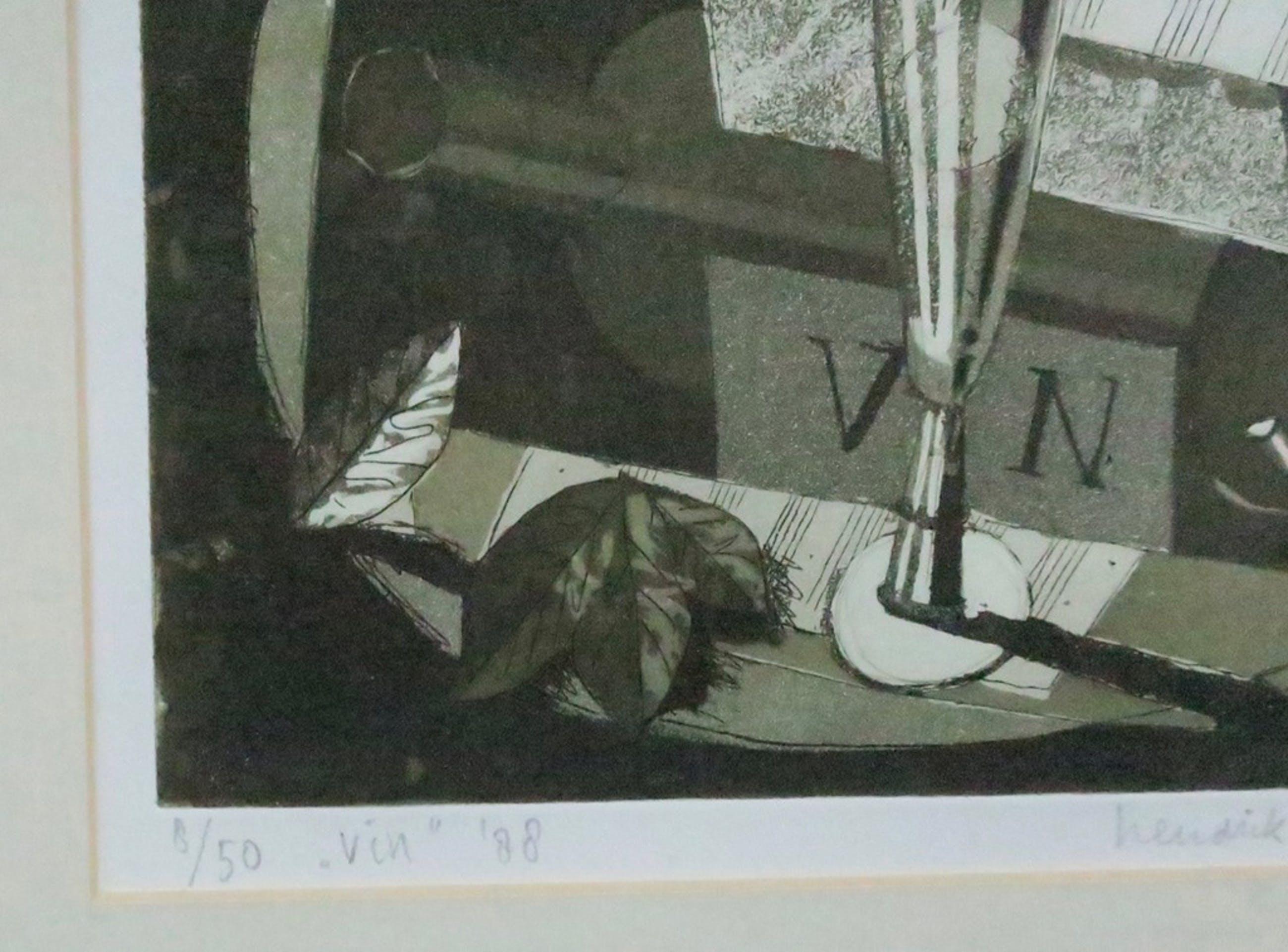 Hendrik Jan Visser: Ets, Vin - Ingelijst kopen? Bied vanaf 35!