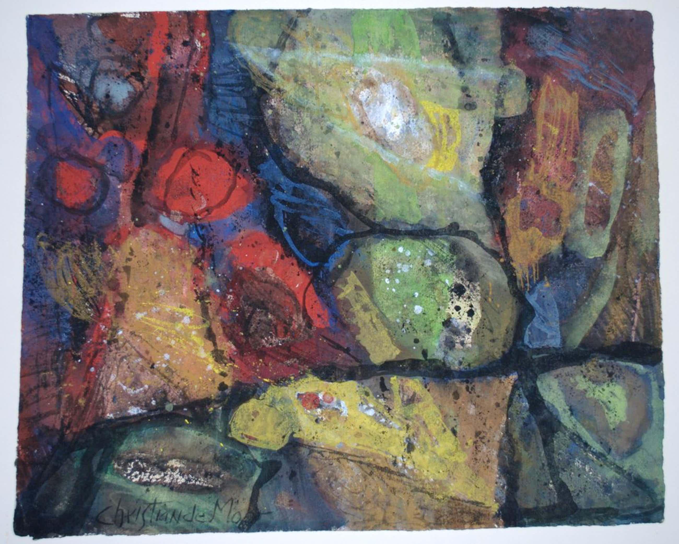 Christiaan de Moor---aquarel uit ca. 1950 kopen? Bied vanaf 90!