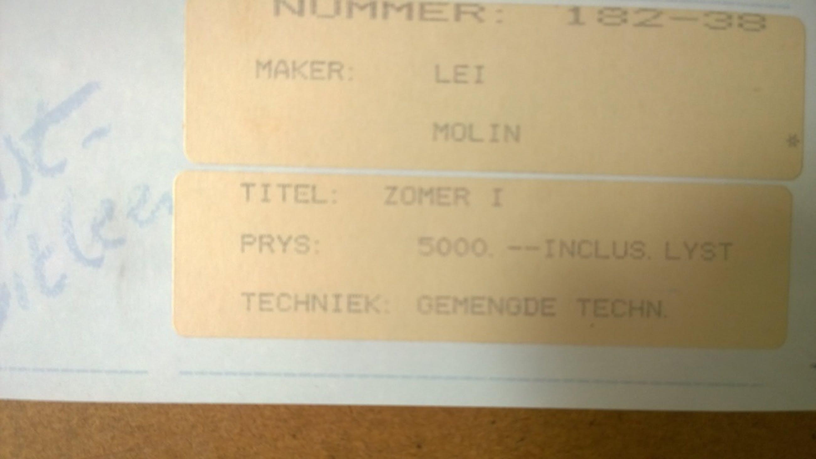Lei Molin - Zomer 1 kopen? Bied vanaf 1000!
