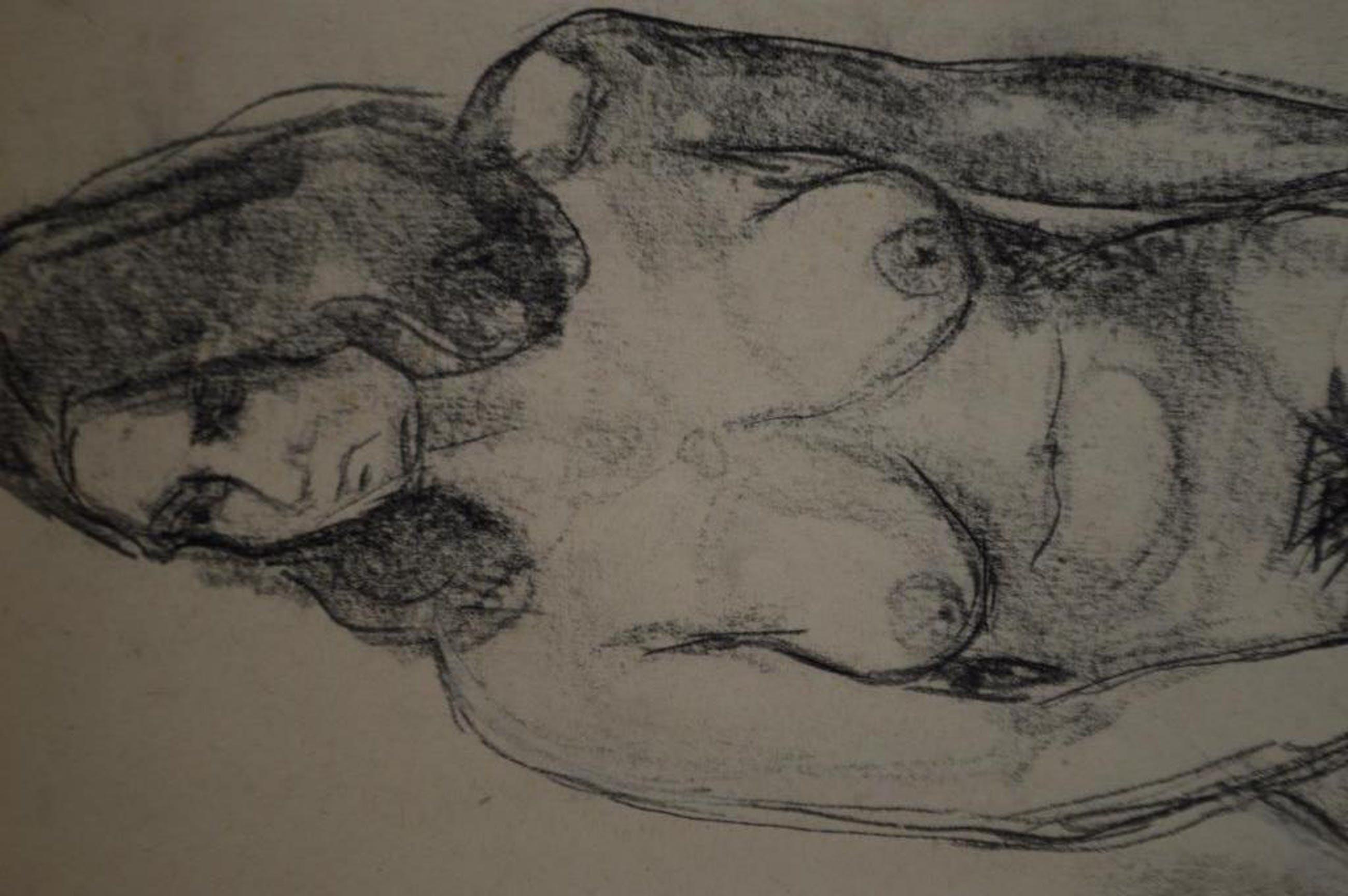 Onbekende kunstenaar, tekening in potlood, 38 x 60 ca. 1960 kopen? Bied vanaf 1!