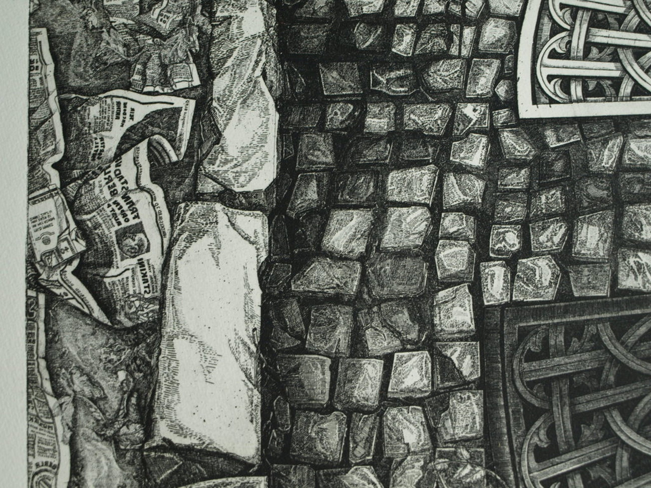 Anneke Kuyper : Ets - Trottoirs van Praag – gesigneerd – nr 1 van 35 ex. – 1977 kopen? Bied vanaf 65!