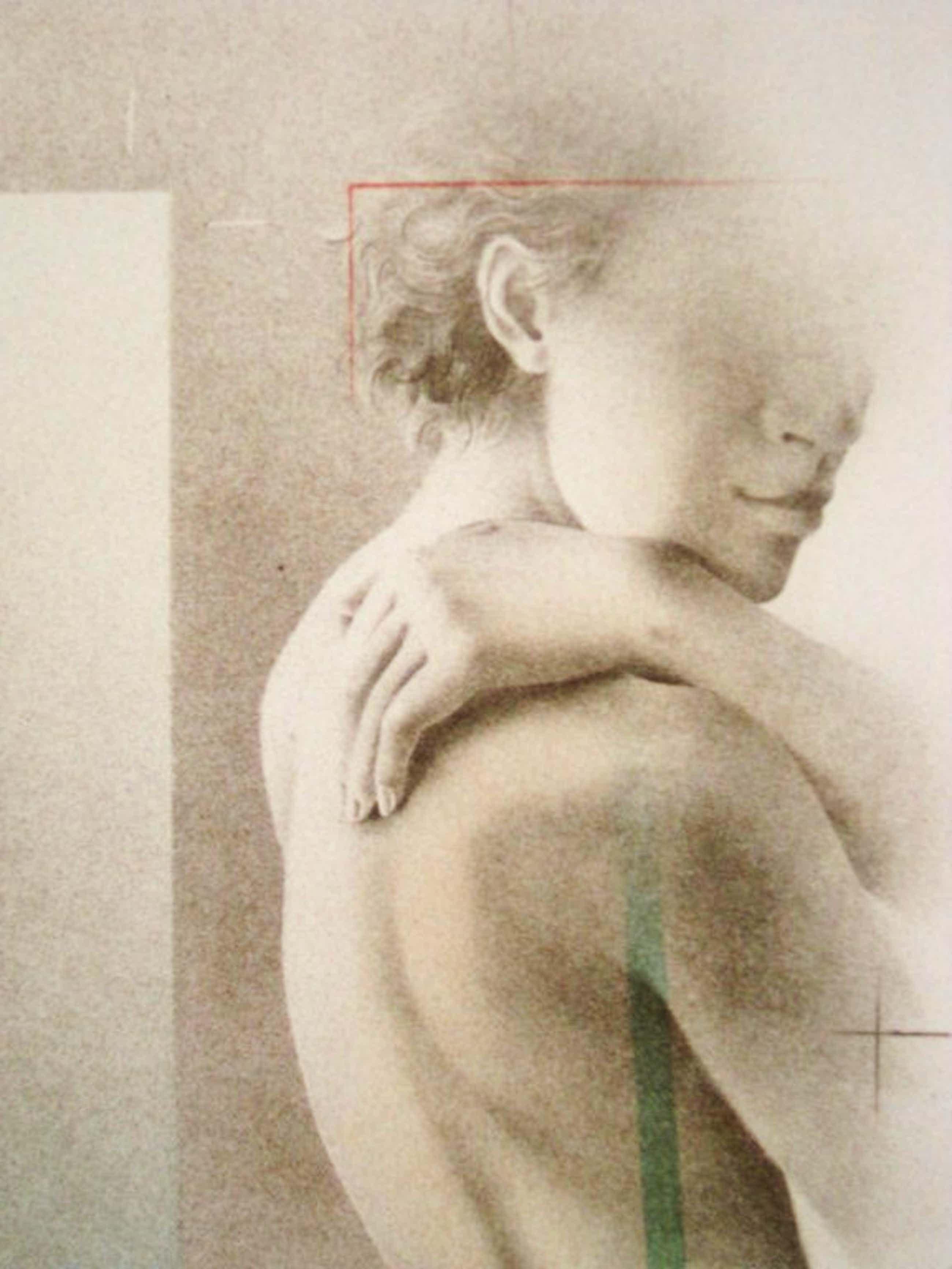 """Machtig Realisme van Poen de Wijs (1948-2014)  gesigneerde  Litho """"la Modella""""  kopen? Bied vanaf 55!"""