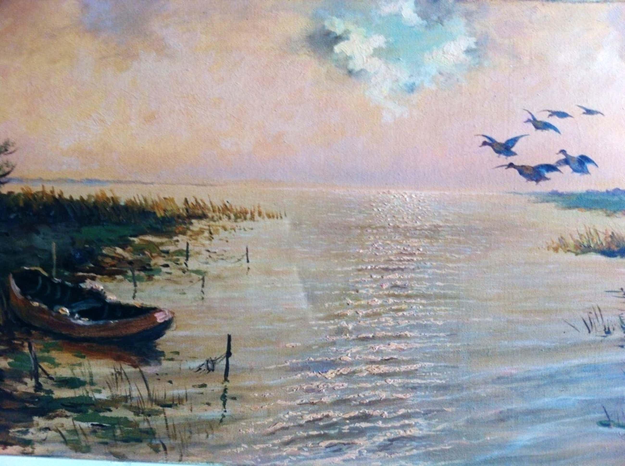 Cornelis Waterman (1893 - 1979) - Olieverf op doek - Plas met opvliegende eenden kopen? Bied vanaf 110!