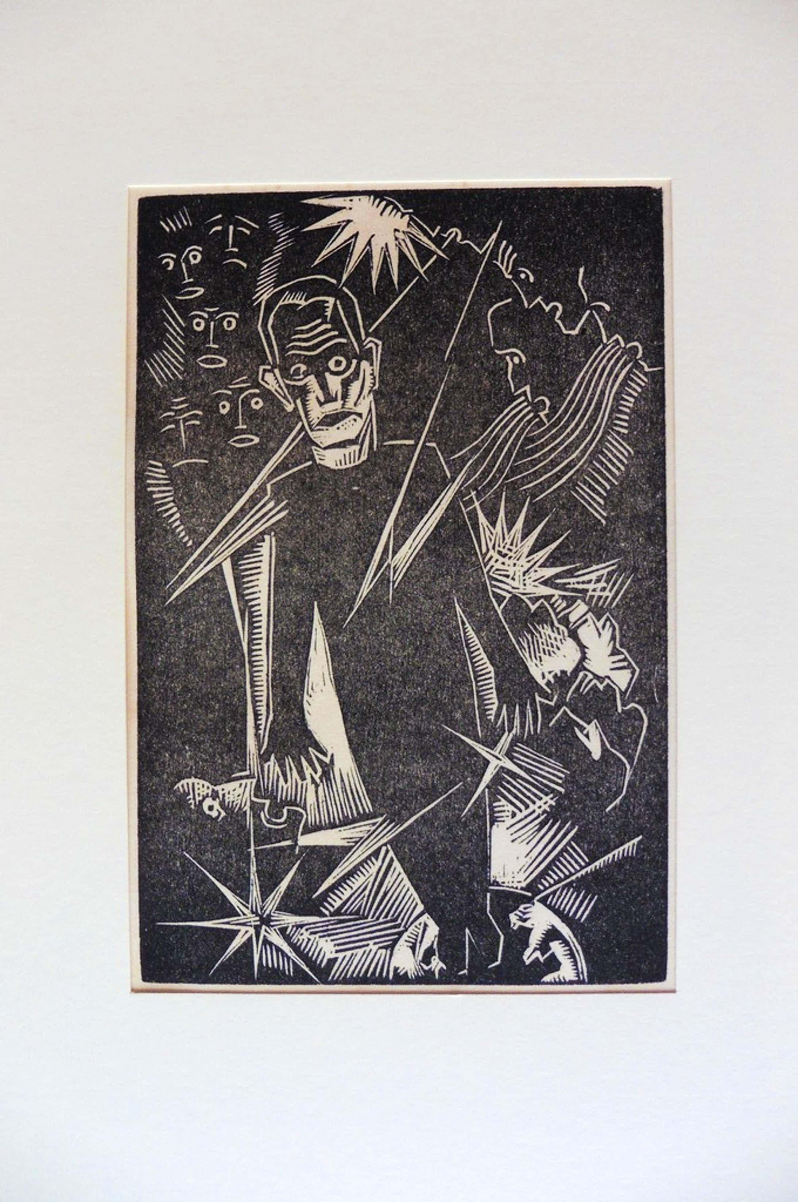 Wout van Heusden,De propagandist, houtsnede, 1927 kopen? Bied vanaf 40!