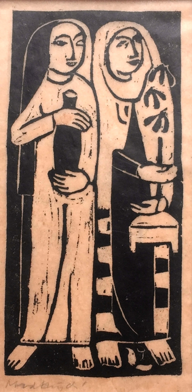 Marianne van der Heijden, houtsnede, zonder titel kopen? Bied vanaf 40!