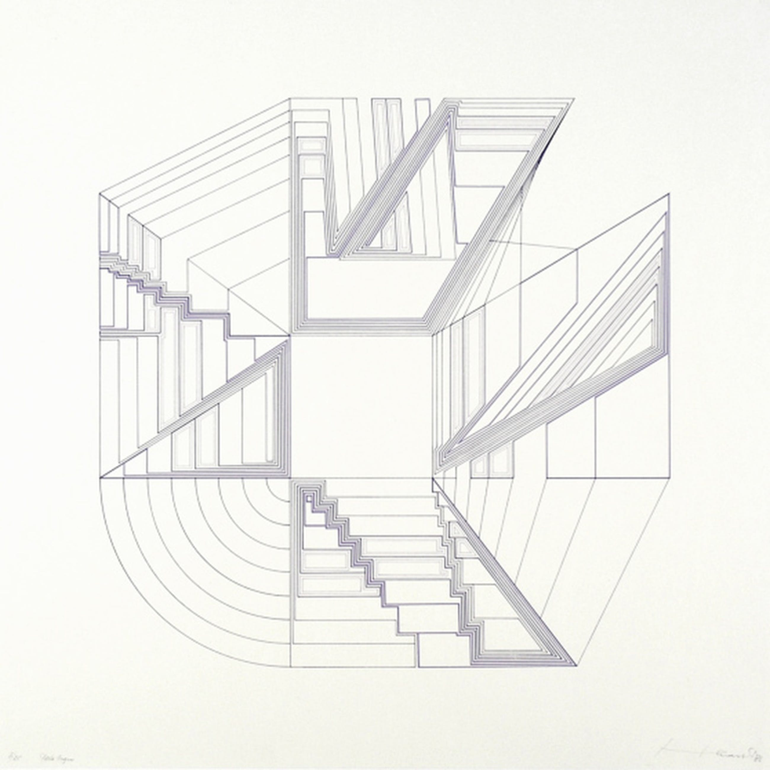 Berend Hendriks, zeefdruk, Porta Negra, 1986 kopen? Bied vanaf 75!