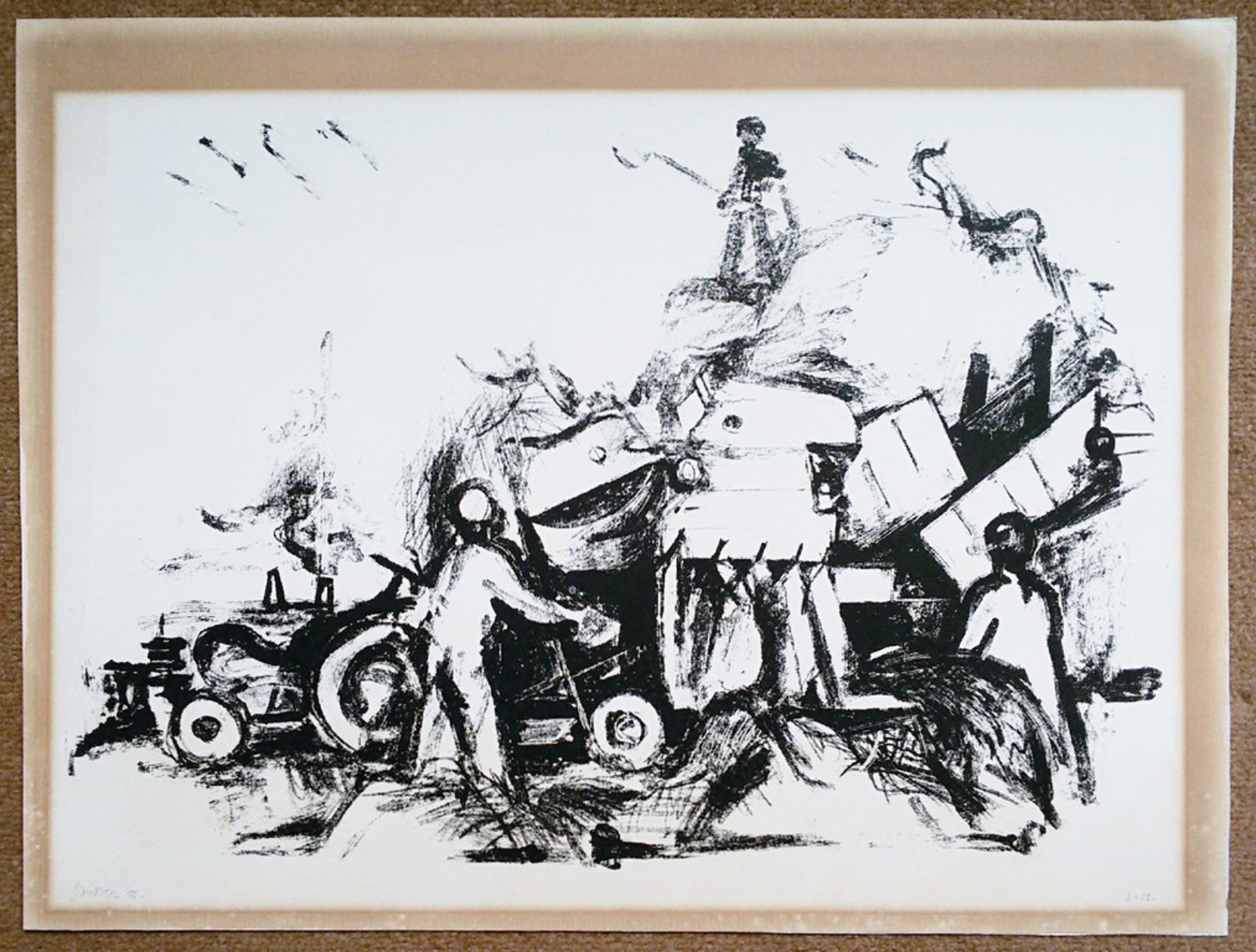 Jef Diederen - Landarbeiders (1955), litho kopen? Bied vanaf 95!