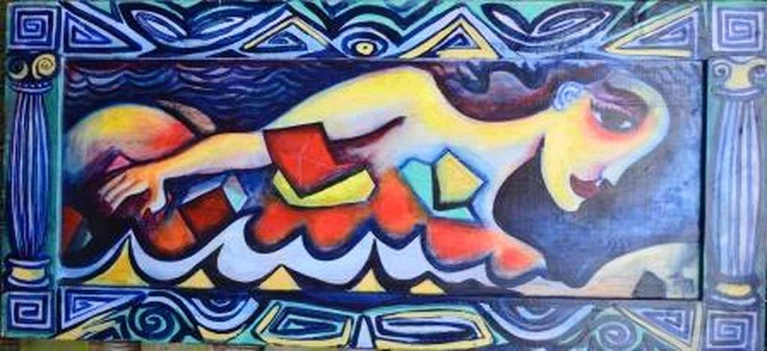 Fabrice Hund ,dé Amsterdamse Kunstenaar - TOPWERK uit 1978 -  150x76 kopen? Bied vanaf 800!