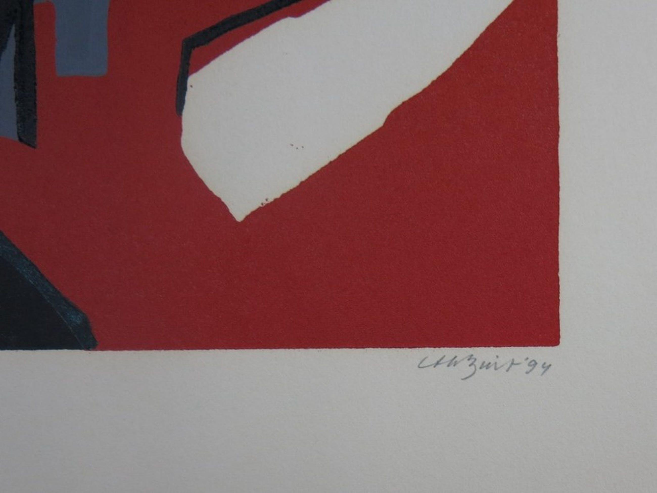 Thijs Buit: Lino, Abstracte compositie  kopen? Bied vanaf 1!